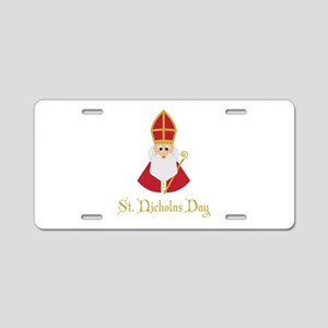 St Nicholas Day Aluminum License Plate